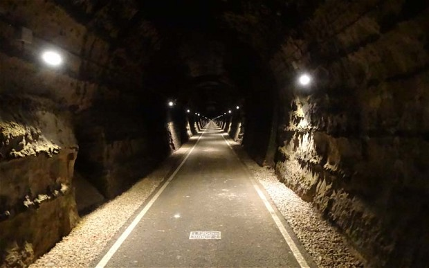cycling underground in tunnels and caves
