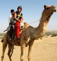 Gap Year Travel riding a camel