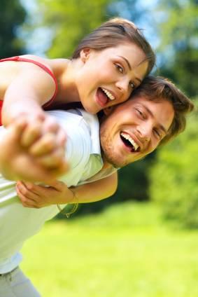 Girlfriend and Boyfriend Outdoors