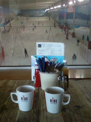 The Lodge bar and restaurant at the Hemel Hempstead Snow Centre
