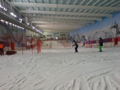 Indoor skiing on the Snow Centre indoor ski slope