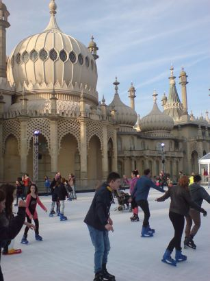 Ice Skating at the Brighton Pavilion