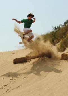 Sandboarding jump