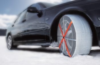 snow socks give tires grip on ice