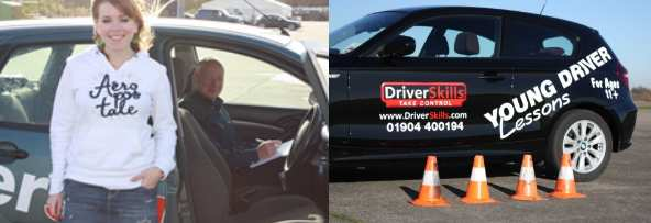 Young drivers learning to drive