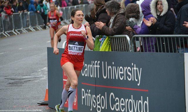 student woman running at Cardiff University
