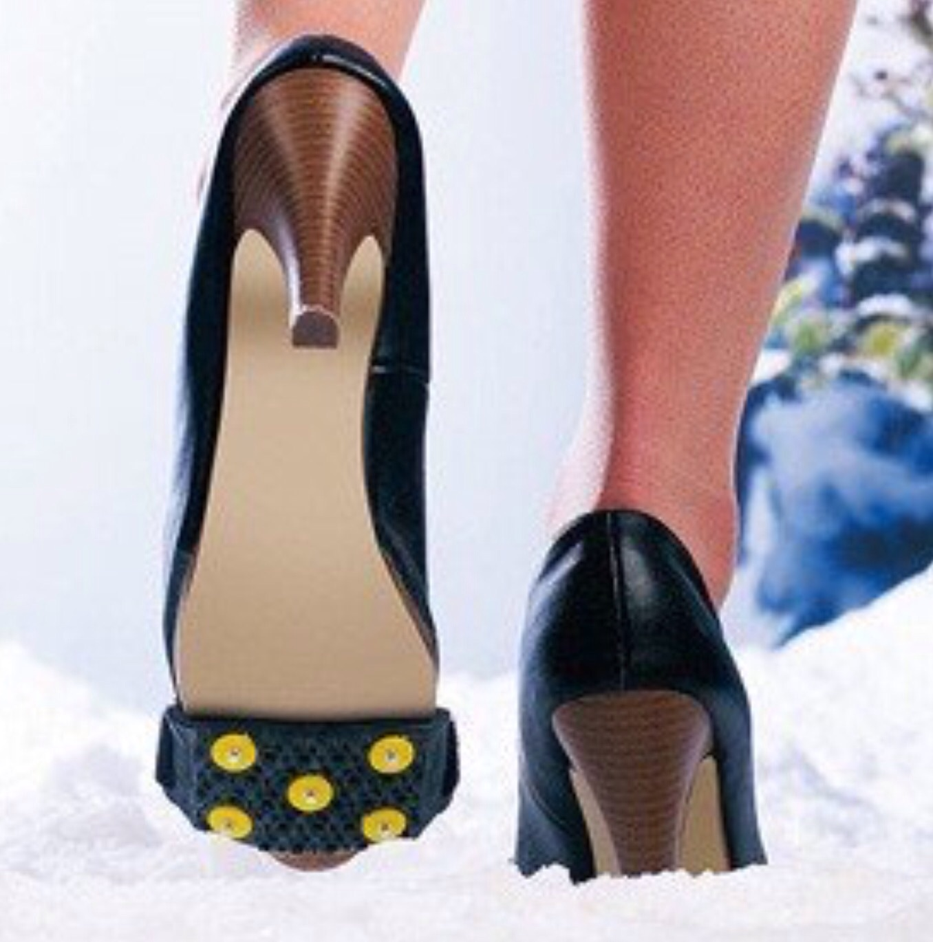 Yaktrax ice grips for high heels