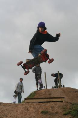 land boarding jump