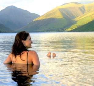 swimming in lakes and rivers