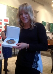 Jenny Jones Snowboarder with Bronze Medal from Sochi WInter Olympic Games