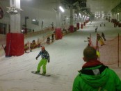 Snowboarding indoors on real snow at Milton Keynes Snozone