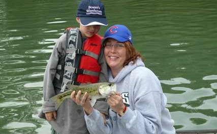 fishing with mum