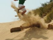 Sanboarding provides awesome fun in the dunes at the beach