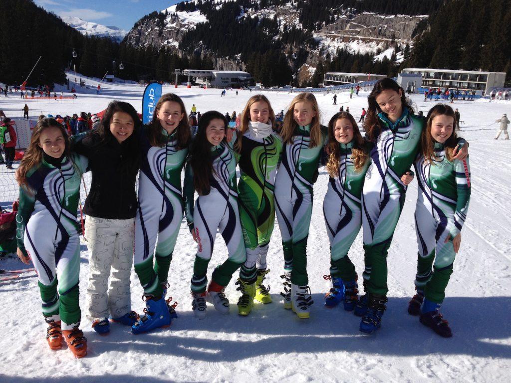 British School Girls Ski Race Flaine 2016
