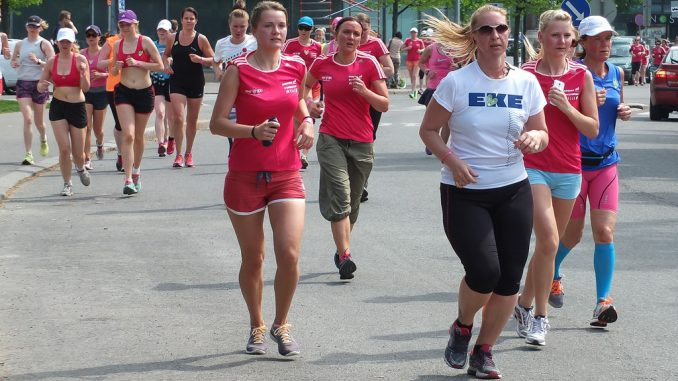 Fitness motivation through group running