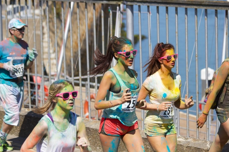 Color Run fun running with friends