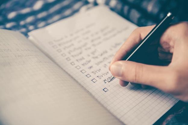 Checklist for stag do
