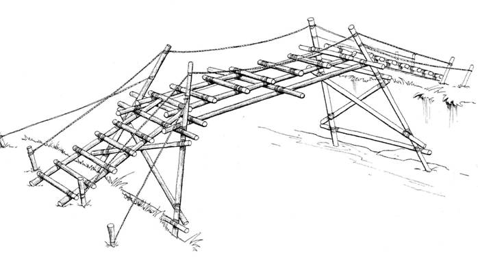Bridge building for river crossings