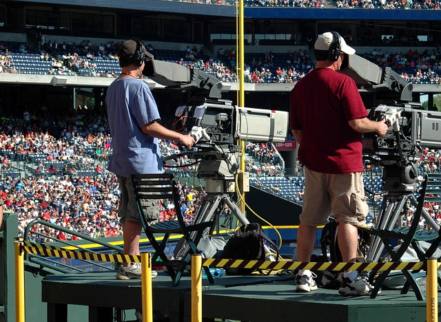 Camera operators at sports events is an outdoor job that pays well