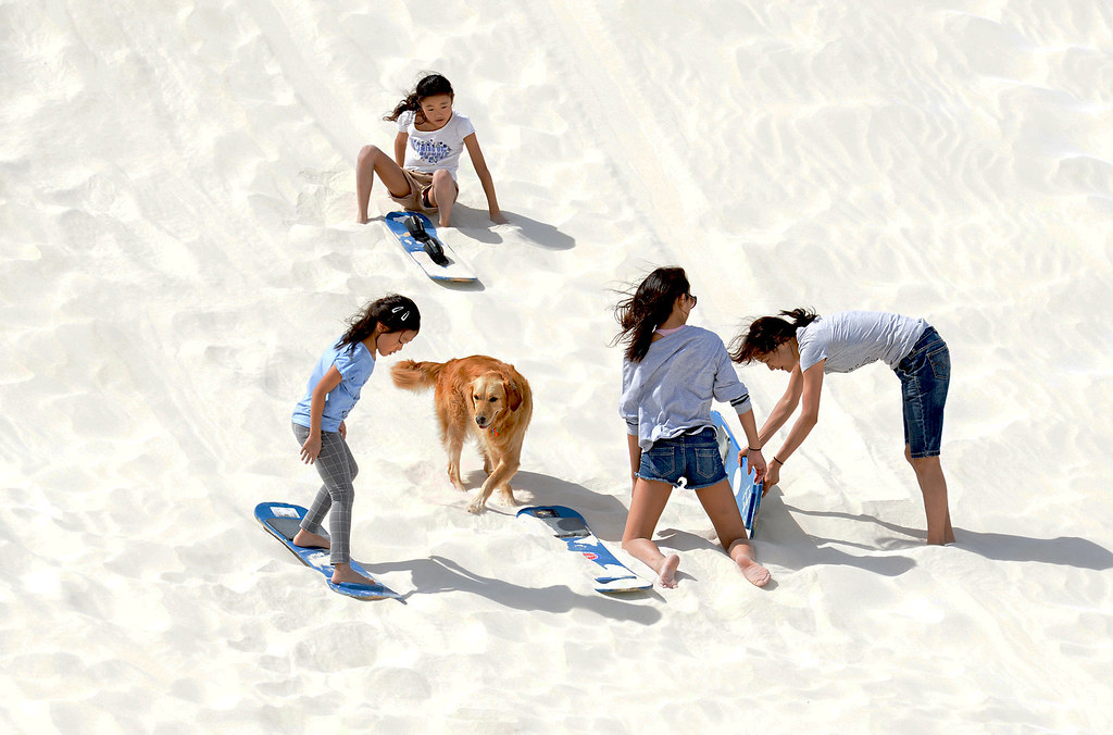 Sandboarding is suitable for kids and adults