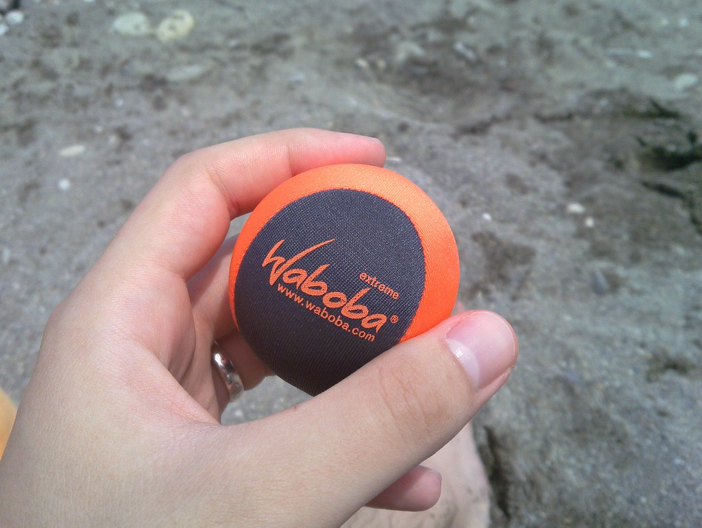 Waboba ball that bounces on water