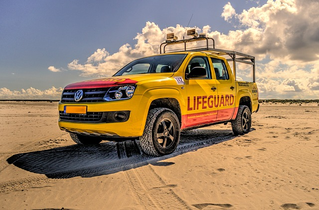 Sun, Sea and surf working as a lifeguard