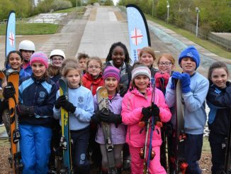 School Children enjoying skiing for National Schools Snowsport Week