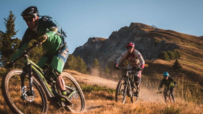 Mountain e-bike racing Verbier