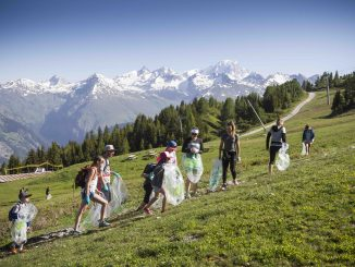 Litter free mountains in Les Arcs