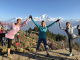 Group trekking in the mountains for health and wellness retreats