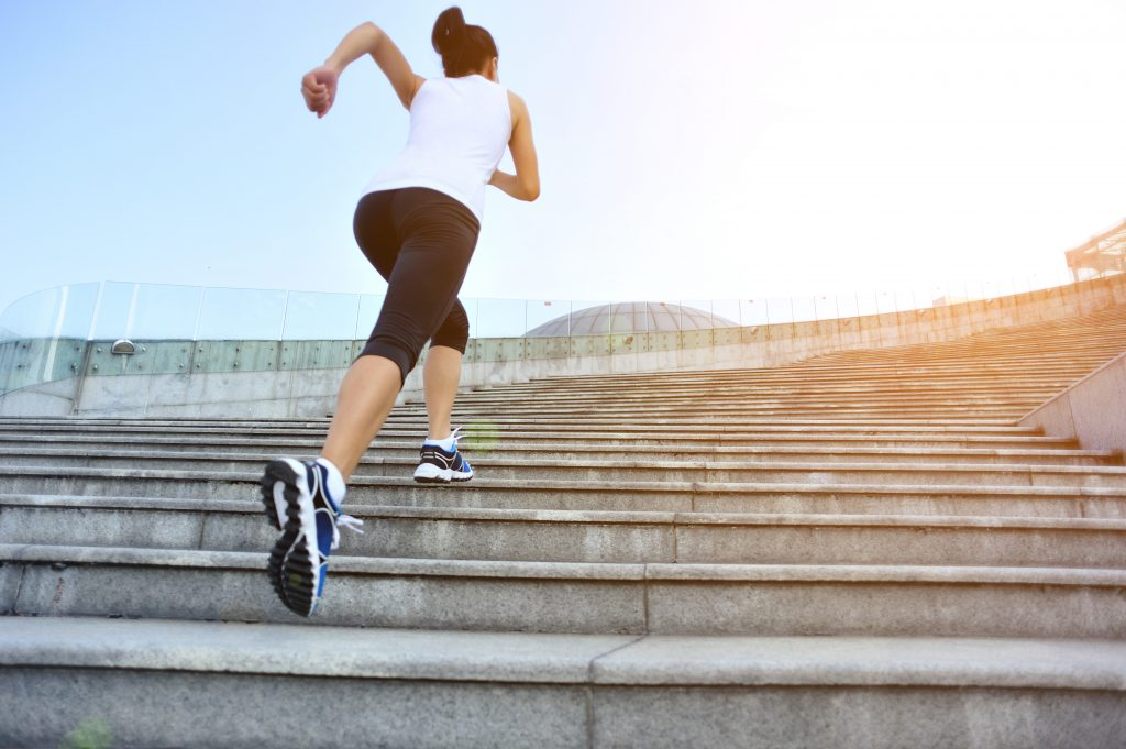 Using stair climbing and hill sprints for ski fitness